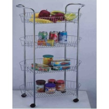 High Quality for Compound Cart, Plastic Compound Cart, Popular Kitchen Trolley Supplier in China 4-Tier Storage Cart With Handle supply to Netherlands Manufacturer
