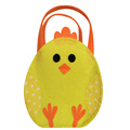 Felt fabric Easter candy bag with chick modeling