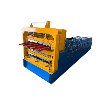 Three Sheet Making Glazed Tile Roll Forming Machine