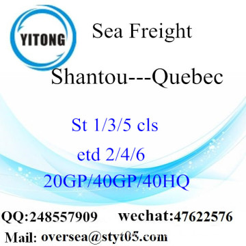 Shantou Port Sea Freight Shipping To Quebec