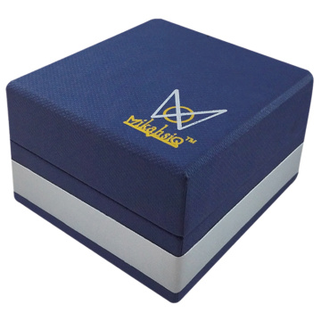luxury cardboard navy blue jewelery gift packing box