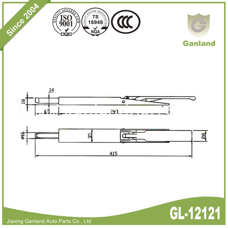 Sliding Door Latch GL-12121