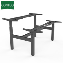 Low MOQ for Four Legs Standing Desk,Standing Computer Desk,Motorized Office Desk Manufacturers and Suppliers in China Furniture Double Motor Desk Computer For 2 Person export to Canada Factory