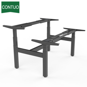 China for Standing Computer Desk Furniture Double Motor Desk Computer For 2 Person supply to Costa Rica Factory