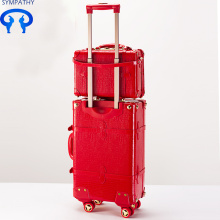 Customized for PU Luggage Set The red wedding suitcase the bride's wedding box supply to Libya Manufacturer