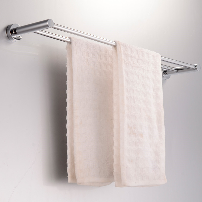 Stainless Steel Towel Rack with Bottom Towel Bar