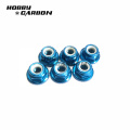 M3 Aluminum Flange lock Nuts Serrated for Racing