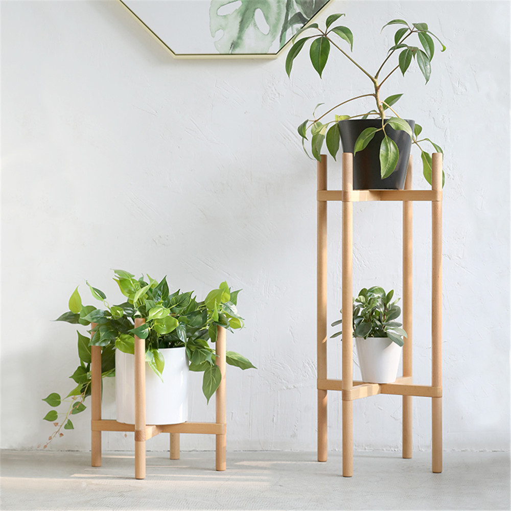 solid flowerpot shelf