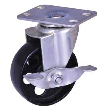 Factory made hot-sale for 3'' Wheel Plate Caster,Pa Wheel Caster,Small Size Furniture Caster Manufacturer in China 100Kg cast iron wheel industrial casters export to Philippines Suppliers