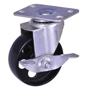 Factory selling for Rubber Wheel Industrial Caster 100Kg cast iron wheel industrial casters export to Tajikistan Supplier