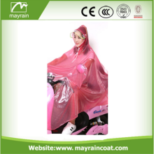 Colored Adult PVC Rain Poncho with Sleeves