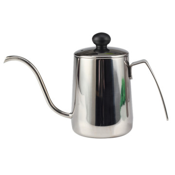 Silver Pour Over Coffee KettleWithGooseneck Spout Tea Pot