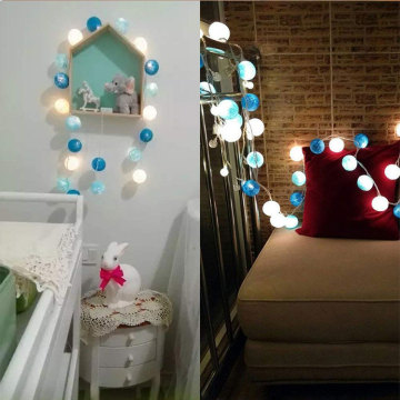 Battery Operated Led Cotton Ball Fairy Lights