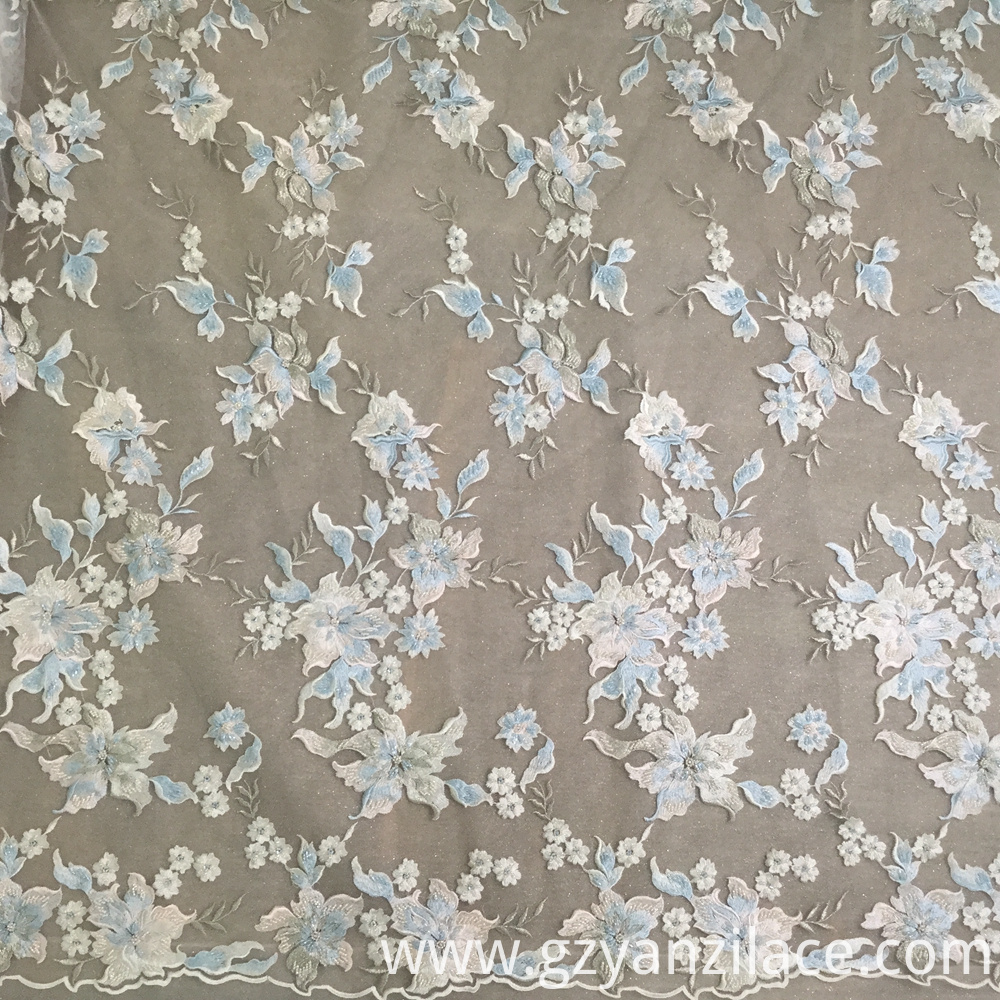 Beaded Lace Fabric Heavy