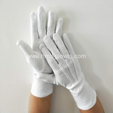white cotton gloves against Coronavirus