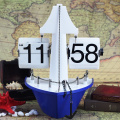 Decorative Ship Flip Desk Clock