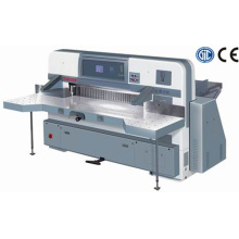 Microcomputer double hydraulic double guide paper cutting machine