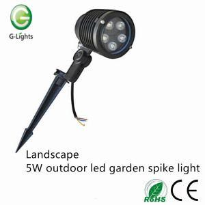 Landscape 5W outdoor led garden spike light