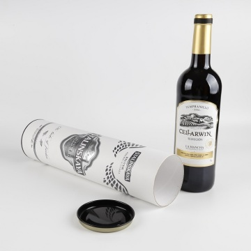 Cardboard Tube Packaging Personalised Red Wine Gift Box