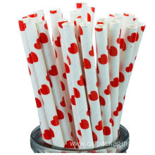 Red and white drinking straws for sales
