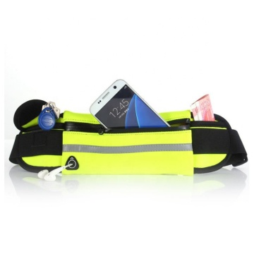 Hot Selling Custom Logo Adjustable Elastic Neoprene Fitness Colorful           Running Belt Waist Bag