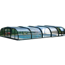 Pool Tent Cover Shelter Polycarbonate Retractable Glass Roof