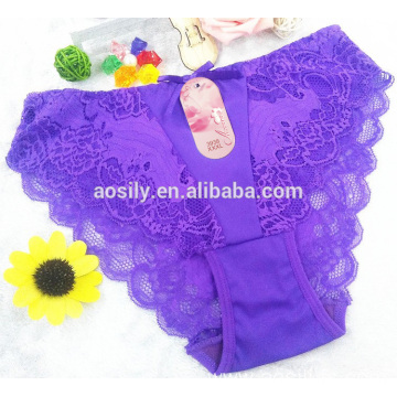 AS-3938 OEM new fashion sexy woman panty underwear xxxl lady lace slip panty