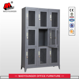 soldier use lock metal mesh locker with feet