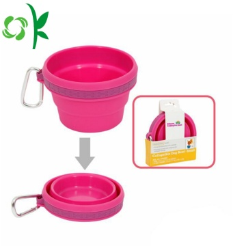 Custom Feeding Travel Food Silicone Collapsible Dog Bowl