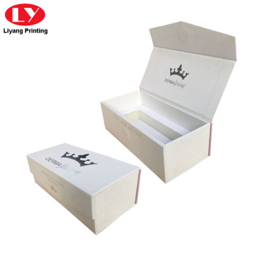 White Plain Gold Gift Box with Silver Logo