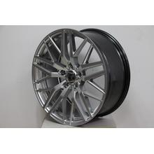 Staggered Silver Machine Face alloy wheel
