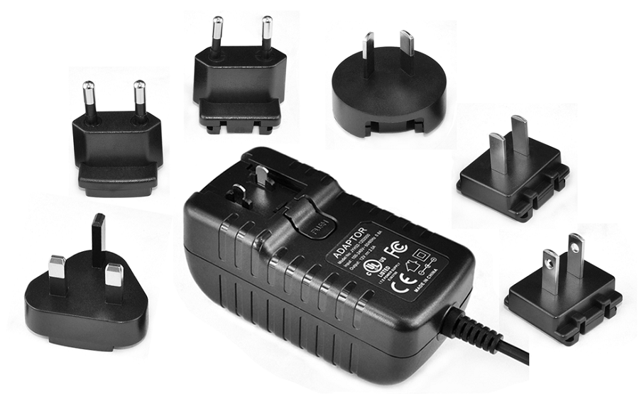 18V1A Detachable Plug AC DC Power Adapter