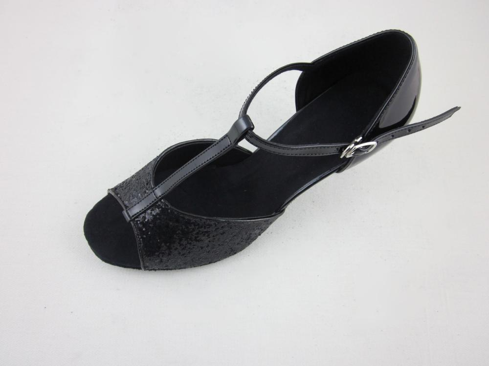 2 5 Inch Girls Black Latin Shoes