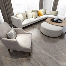 Marble effect ceramic tiles grey