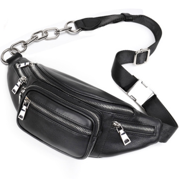 New Style PU Leather Women Waist Bag