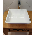 Hot sale pure acrylic counter washbasin for bathroom