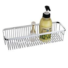 Bathroom pole shower caddy brused stainless steel