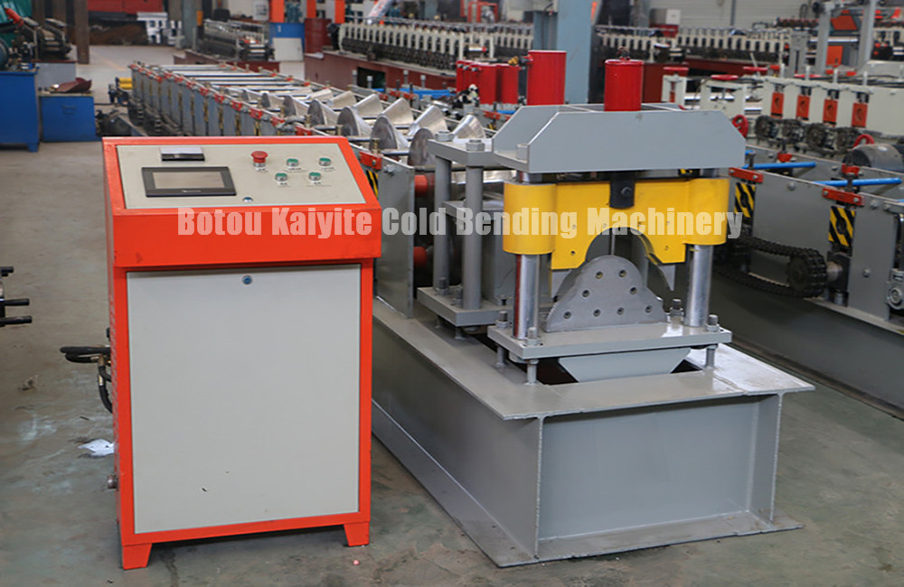 Glazed Metal Roof Ridge Cap Roll Forming Machine Of Low Price