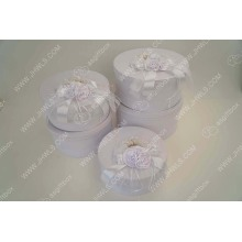OEM Customized for Hat Box White Ribbon Hat Gift Box supply to France Metropolitan Supplier