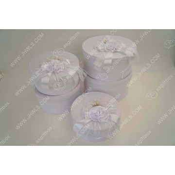 White Ribbon Hat Gift Box