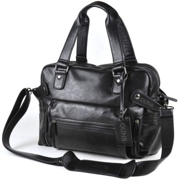 Mens Black Leather Tote Hand Bags