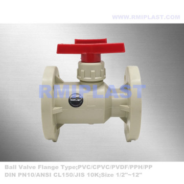 Ball Valve CPVC Flange Connection JIS 10K
