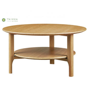 Round Coffee Table Solid Wood