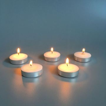 Long Burning Tea Light Candles in Aluminous Cup