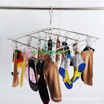 Household Stainless Steel Clothing Rack Organizer Laundry Rack