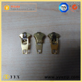 Shiny real gold metal custom zipper puller