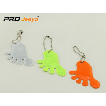 Promotional Cute Feet Shape Reflective Pendant
