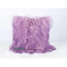 China New Product for Mongolian Fur Pillow Soft Mongolian Sheepskin Pillow export to Trinidad and Tobago Factories