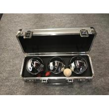Three Boule Set Aluminium Case With Foamed Polythene