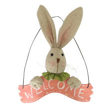 Happy Easter Sign and bunny Wall Banner